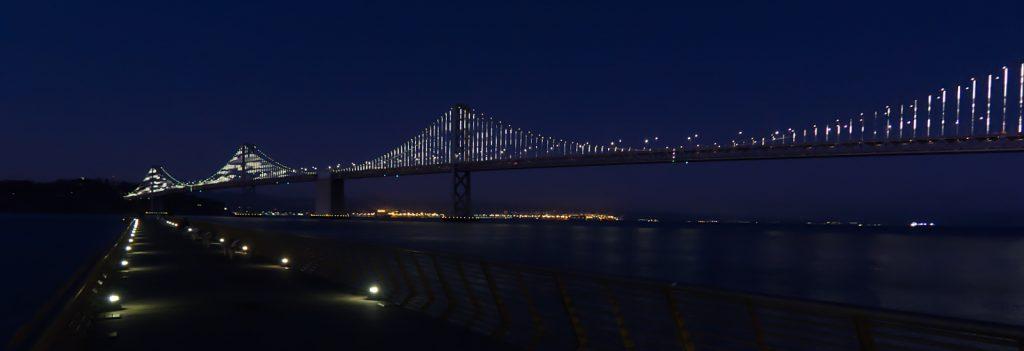 BAY BRIDGE AT NIGHT by Peter Polkinghorne